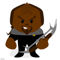 Lil' Commander Worf! by SciFiSmartass