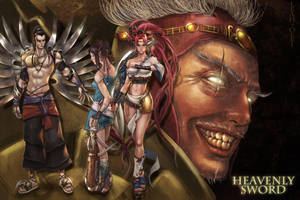 heavenly sword collab by olei