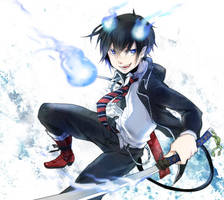 Ao no Exorcist by f-wd