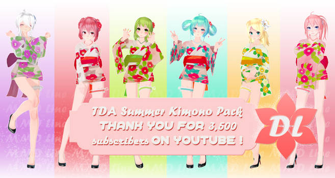 Ty for 3,5k subs on YT! TDA Summer Kimono Pack DL by xLineChu