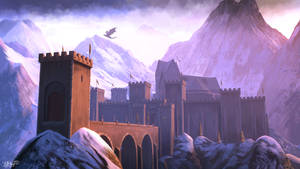 Skyhold - Dragon Age fanart by DaniHaynes
