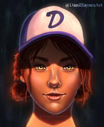 Clementine fanart portrait (The Walking Dead Game) by DaniHaynes