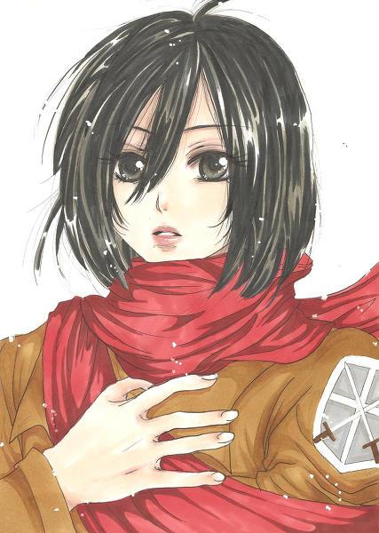 Mikasa (Shingeki no Kyojin) by yoolin