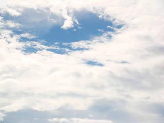 heart-shaped sky by yhandz