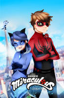 LadyWolfy and Spiderman (? by MikaWolfy5