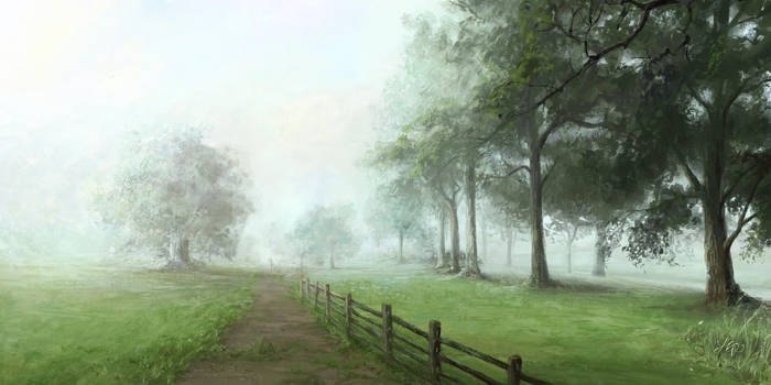 Dog Park II - Foggy 7AM by mynti