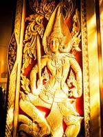 Thailand temple door by Tairenar