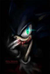 Sonic :: Dark Sonic by AkiruNyang