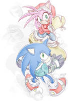 Sonic :: Snowballing by AkiruNyang