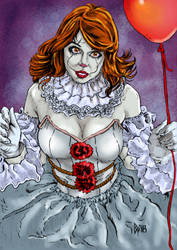 Pennywise girl color by ObbArt
