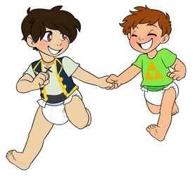 Running Together by Natsu-cat (Commission) by KidBoruto