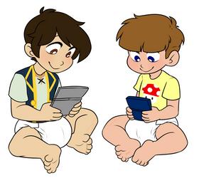 Gaming Bros by Natsu-cat (Commission) by KidBoruto