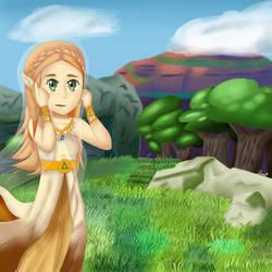Breath of The Wild: Princess Zelda by pharlyn