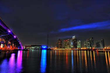 Skyline Miami Bayside 2 by Aerostylaz