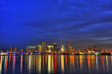 Miami Skyline I by Aerostylaz