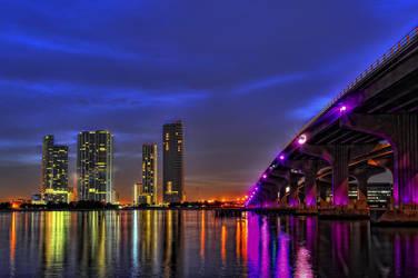 Miami Skyline II by Aerostylaz
