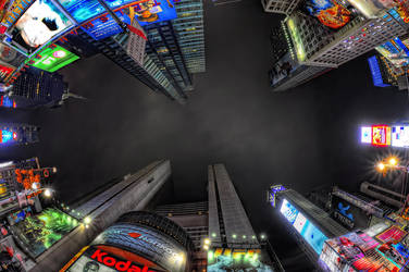 Times Square, NYC by Aerostylaz