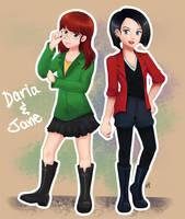Daria and Jane by Nivspo