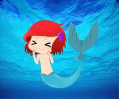Little merboy by Betsu-Myah