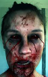Zombie Face by XantheUnwinArt