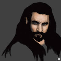 Thorin Oakenshield The Hobbit wip by XantheUnwinArt