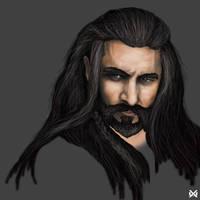 Thorin Oakenshield The Hobbit wip2 by XantheUnwinArt