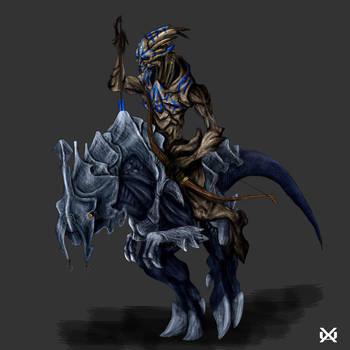 Prehistoric Turian Riding Beast Mass Effect By Xantheunwinart On