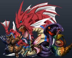 2nd Realistic Pokemon Trainer + Team wip 4 by XantheUnwinArt