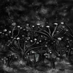 Sci-Fi Alien Plant concept 1 by XantheUnwinArt