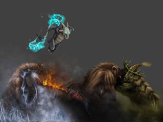 Pokemon Commission Team wip 5 by XantheUnwinArt
