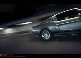 Shelby GT500 - burnout - by dejz0r