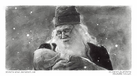 Albus Dumbledore and little Harry Potter by Michelle-Winer