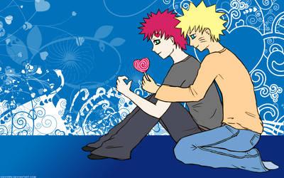 GaaNaru Widescreen Wallpaper by Gaara-x-Naruto-Club