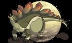 Chubby Stegosaurus by AltairSky