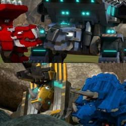 Dinotrux - Females with Supercharged males by DragonPatrol95
