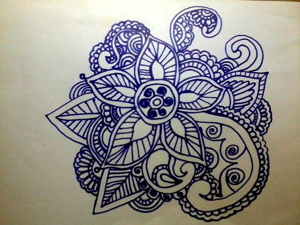 Henna Flower And Leaves Design Flower Series 30 By Aniiron On