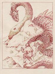 The Hobbit - Smaug by Riana-art