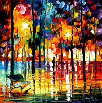 WINTER NIGHT by Leonidafremov