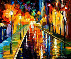 MIDNIGHT REFLECTION by Leonid Afremov by Leonidafremov