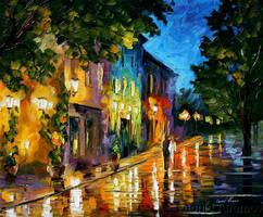 Afremov FIRST DATE Original Ar by Leonidafremov