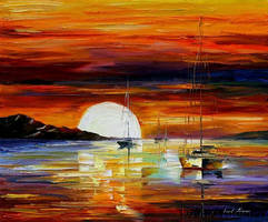 Afremov SUNRISE Original Art O by Leonidafremov