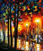 Lonely Park by Leonid Afremov by Leonidafremov