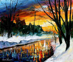 Winter by Leonid Afremov by Leonidafremov