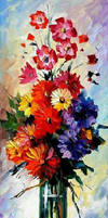 BOUQUET by Leonid Afremov by Leonidafremov