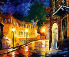 Lonely Night by Leonid Afremov by Leonidafremov