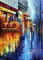Cafe In Paris by Leonid Afremov by Leonidafremov