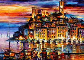 Cannes France by Leonid Afremov by Leonidafremov