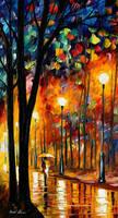Misty glow Oil Painting On Canvas by L.Afremov by Leonidafremov