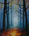 Forest by Leonid Afremov by Leonidafremov