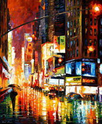 Times Square by Leonid Afremov by Leonidafremov